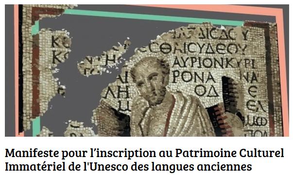Manifeste inscription des langues anciennes au PCI Unesco