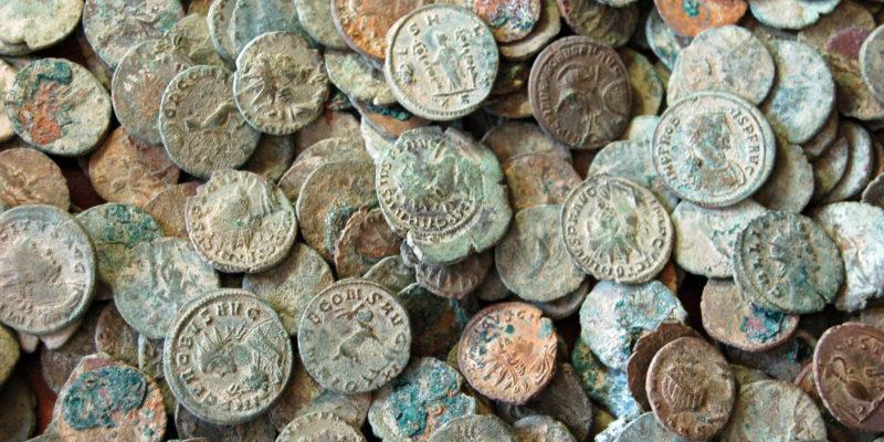 Pièces de monnaie romaines