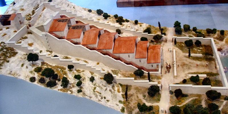 « Moulins de Barbegal » Maquette exposée au Musée Départementale de l'Arles Antique