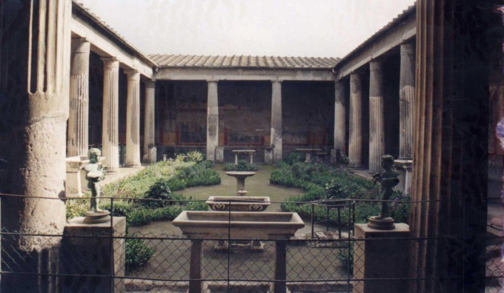 Pompéi – jardin de la Maison des Vettii
