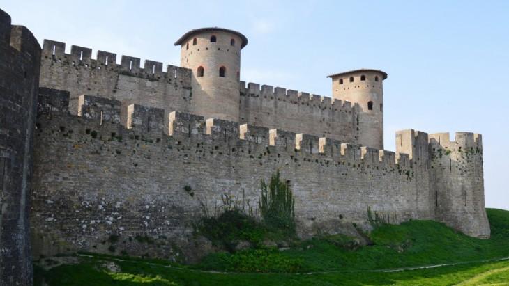 Rempart romain et la deuxième enceinte du Château comtal de Carcassonne