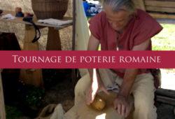 Tournage de poterie romaine