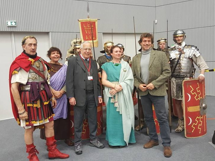avec Yann Le Bohec et Alberto Angela