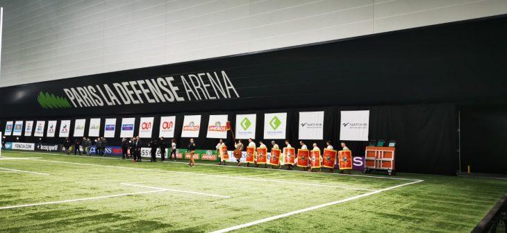Première répétition sur le stade de Paris la Défense Arena.