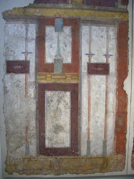 fresque du IIe siècle retrouvée dans une villa de Rome lors de travaux dans la ligne 2 du métro