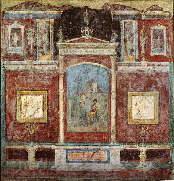 Fresque du cubiculum de la Casa della Farnesina